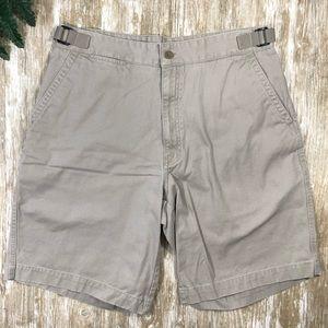 {Perry Ellis Cottons} Mens Beige Cotton Shorts